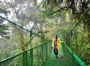 Monteverde-Hängebrücken-Mensch