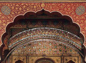 Indien Bikaner Gateway Tor huebsch