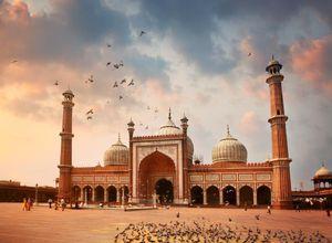 Indien Delhi Freitagsmoschee Jama Masjid schoen Reise