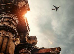 Indien Flughafen Abflug Reise Flug Urlaub
