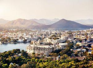 Indien Udaipur Stadt See Ausblick traumhaft