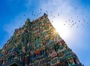 Indien Madurai Tempel aufgehende Sonne Reiseprofi