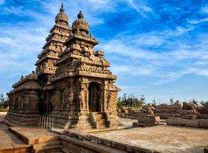 Indien Mamallapuram Kuestentempel Strand Reiseprofi