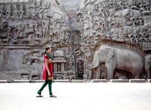 Indien Mamallapuram Relief Mahabalipuram beeindruckend