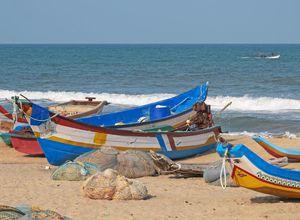Indien Mamallapuram Strand Mahabalipuram Erholung Entspannung