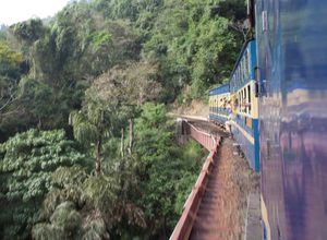 Indien Nilgiri Mountain Railway Zug Landschaft