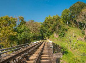 Indien Ooty Nilgiri Mountain Train Zahnradbahn Gleise