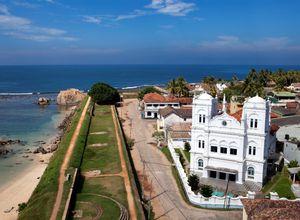 Sri Lanka Galle Moschee Mauer Rundgang