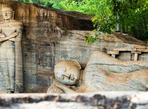 Sri Lanka Polonnaruwa Gal Vihara Tempel Sehenswuerdigkeiten Tour
