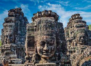 Kambodscha Angkor Bayon Tempel Faszination weltberuehmt