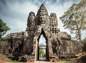 Kambodscha Angkor Thom Tor Tempelanlage Rundgang