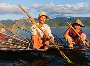 Myanmar Inle See Fischer Intha Einheimische Begegnung