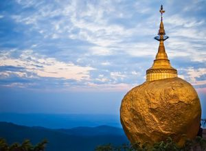 Myanmar Kyaiktiyo goldener Felsen Heiligtum Buddhismus