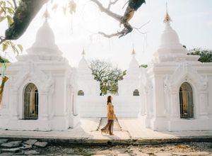 Myanmar Mandalay Kuthodaw Sehenswuerdigkeit