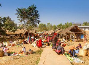 Myanmar Markt Einheimische Reise
