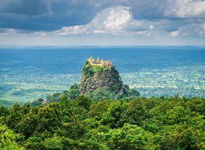 Myanmar Mount Popa Tempel auf Berg einzigartig