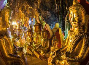 Myanmar Pindaya Hoehle Statuen Buddha