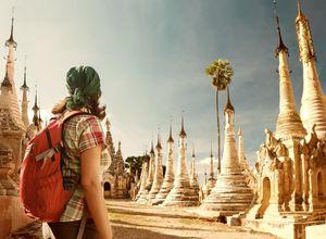 Myanmar Sagar Stupas Tagesausflug