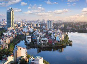 Vietnam Hanoi Innenstadt City Tour Skyline