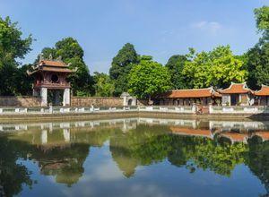 Vietnam Hanoi Literaturtempel Sightseeing Konfuzius