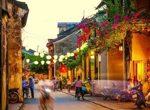Vietnam Hoi An Spaziergang Abend Restaurant