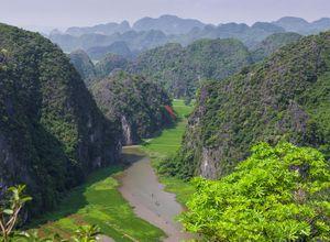 Vietnam Ninh Binh trockene Halong Bucht Sightseeing