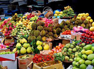 Vietnam Obst Markt lecker Reise