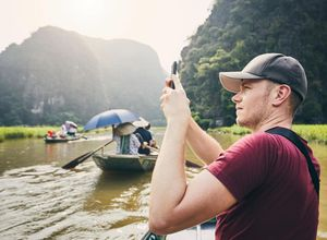 Vietnam Tam Coc Halong Bucht trocken Schiff Boot Fotospot Reise