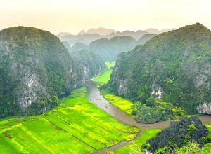 Vietnam Tam Coc trockene Halong Bucht Aussichtspunkt