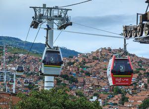 Kolumbien Medellin Stadtblick