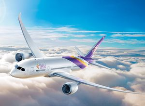 Thai Airways Flugzeug Urlaub Reise Buchung Flug