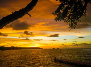 Kolumbien Islas Rosario Sonnenuntergang