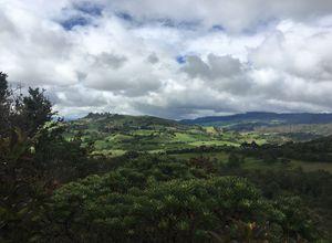 Kolumbien Cuasca Blick in die Landschaft
