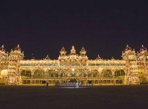 Indien-Mysore-Palast-Licht