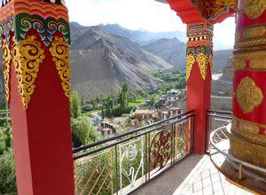 indien ladakh blick vom kloster
