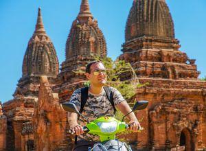 Myanmar Bagan Scooter Tour oekologisch nachhaltig elektro