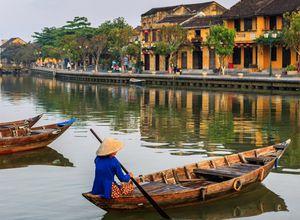 Vietnam Hoi An Kanal Reise Boot