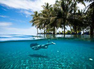 malediven sun siyam iru fushi schwimmen