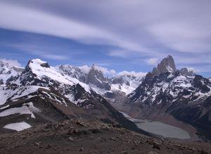 Argentinien Chalten Loma del Pliegue Tumbado Aussicht