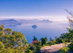 Reise Japan Aufsicht Miyajima Mt Misen istock-1190304596