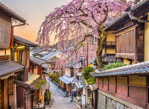 Japan Kyoto Stadtviertel Higashiyama iStock 902966276
