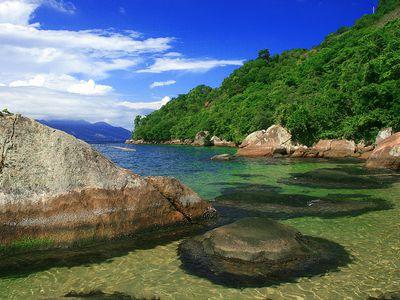 brasilien ilha grande praia da feiticeira