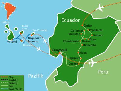 reiseroute ecuador galapagos naturparadies hautnah