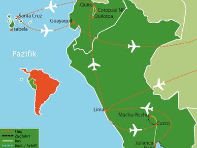 reiseroute peru ecuador vom inkareich ins letzte paradies