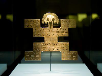 Statue im Goldmuseum von Bogotá