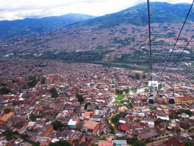 Blick auf Bogotá von der Seilbahn zum Monserrate