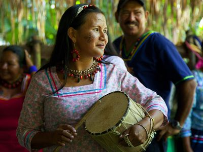 Kichwa Gemeinde im Amazonasbecken, Ecuador