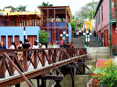Seufzerbrücke im Viertel Barranco in Lima, Peru