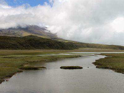 Limpiopungo Lagune im Cotopaxi Nationalpark, Ecuador