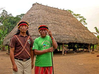Achuar Gemeinde Ecuador